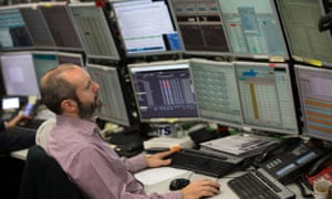 A trader at work at ETX Capital in central London.