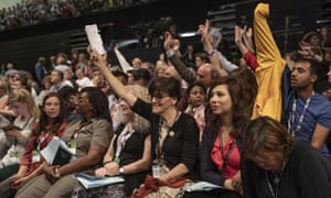 Delegates at the Labour party conference.