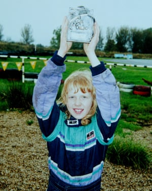 Alice Powell pictured at the age of eight during her first season of karting.