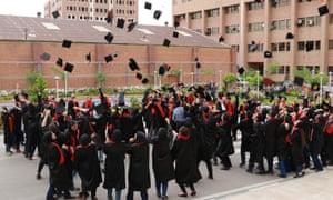 Sharif University of Technology Computer Engineering Department graduation ceremony, Iran 2018.