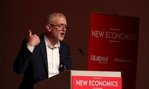 Jeremy Corbyn speaking at the party's economic conference at Glasgow Royal Concert Hall.