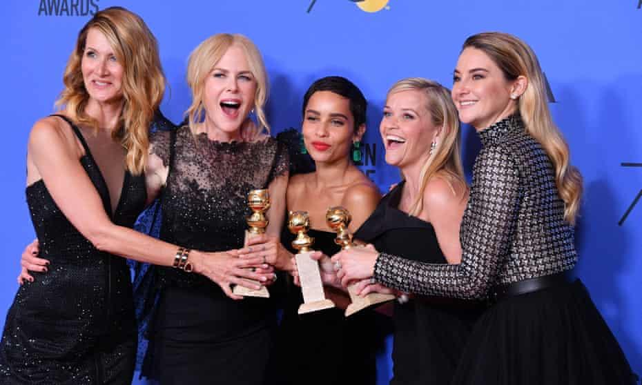 Star power … Laura Dern, Nicole Kidman, Zoe Kravitz, Reese Witherspoon and Shailene Woodley of Big Little Lies