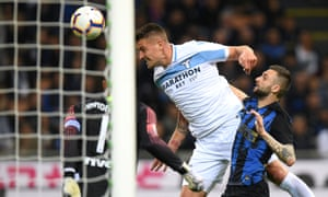 Sergej Milinkovic-Savic heads the only goal of the game.