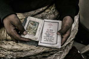 A copy of the Bible is one of the few things Abeil brought with him from Eritrea