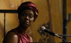 Zoe Saldana as Nina Simone in the film Nina.