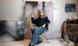 Betty Tompkins in her studio in New York.