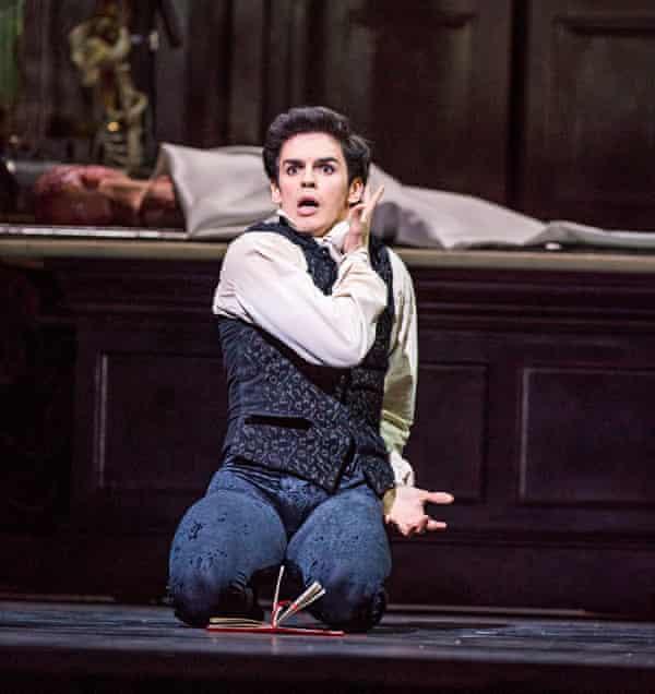 Scrabbling, breathless agitation … Federico Bonelli as Victor Frankenstein.