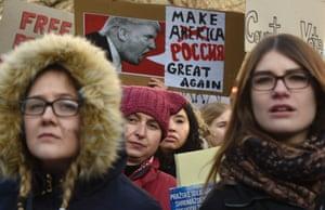 A protest in Prague, Czech Republic