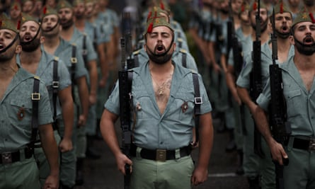 Members of La Legión, an elite unit of the Spanish army