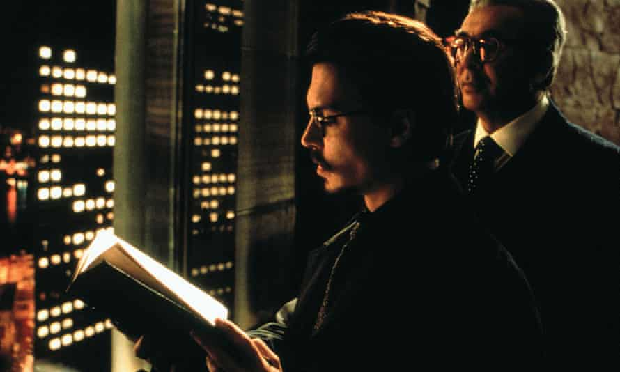 Johnny Depp (left) and Frank Langella in The Ninth Gate (1999), the film version of The Dumas Club.