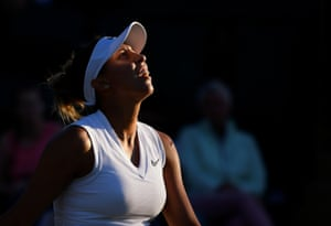 Madison Keys reacts during her defeat to Polona Hercog.