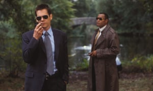 Kevin Bacon with Laurence Fishburne in 2003's Mystic River