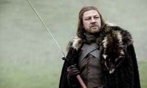 Sword-swinger … Bean as Ned Stark in Game of Thrones.