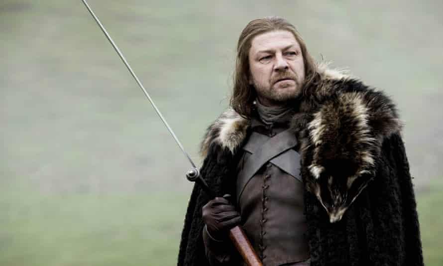 Sword-swinger … Bean as Ned Stark in Game of Thrones.