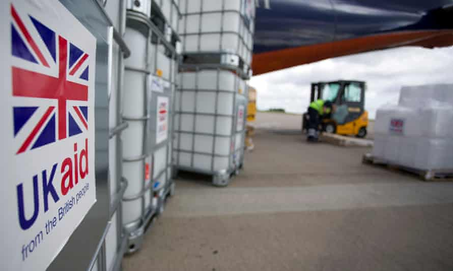 A UK aid shipment pictured at East Midlands airport in 2014.