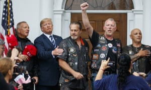 The president made his first public comments on the book at a photo-op with the group Bikers for Trump.