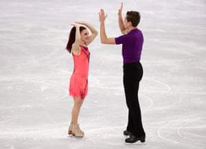 Marie-Jade Lauriault and Romain Le Gac of France in Pyeongchang.