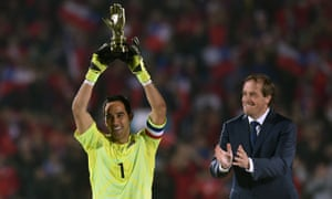 Chile captain Claudio Bravo.