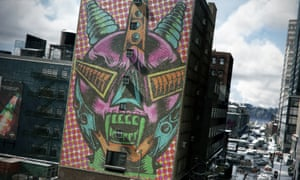 Ubisoft worked with over 20 street artists to create a series of murals to adorn the city walls. Each reflects the game's theme of societal collapse.