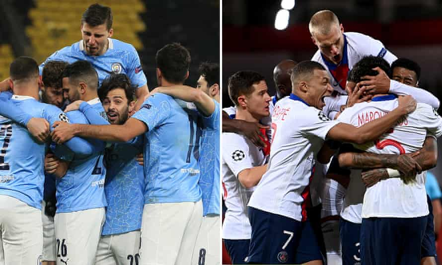 Manchester City V Psg Semi Final Suggests Darker Side Of Sport S Fairytales Champions League The Guardian