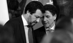 Matteo Salvini and Giuseppe Conte