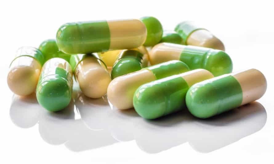 Antidepressant capsules.