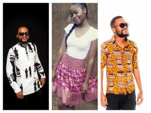 非洲印花服装。