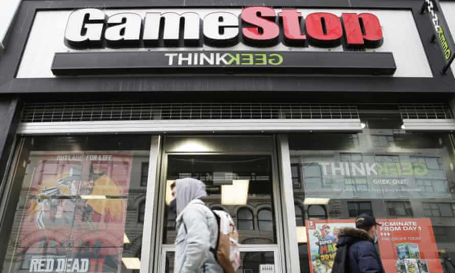 A GameStop retail store is open for business in New York City on Wednesday