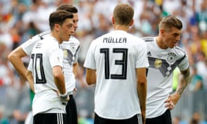 Mesut Özil and Toni Kroos, along with Thomas Müller and Julian Draxler, during Germany's defeat to Mexico at the World Cup.