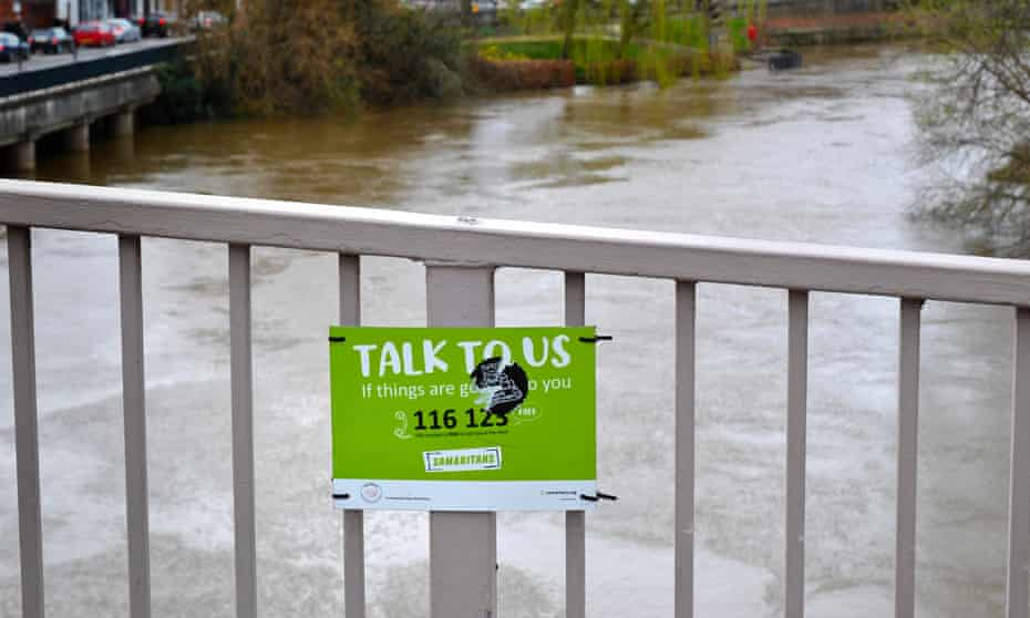 A Samaritans sign in Shrewsbury.