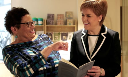 Nicola Sturgeon (right) and Jackie Kay