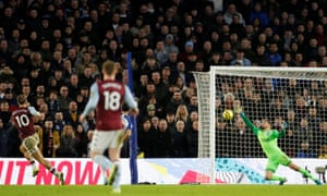 Aston Villa's Jack Grealish scores the equalizer on his side.