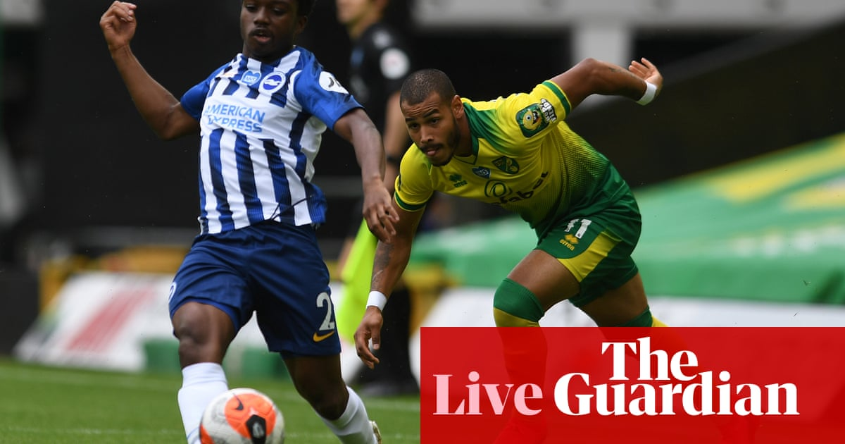 Norwich City v Brighton & Hove Albion: Premier League – live! - the guardian
