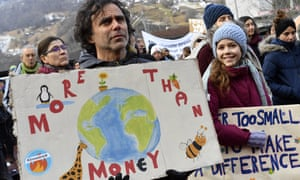 Climate protesters at the World Economic Forum (WEF) in Davos