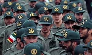 Members of the Iranian Revolutionary Guards in Tehran, Iran, on 11 February 2019.