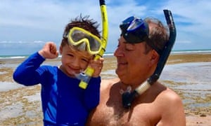 Jose Truda Palazzo Jr and his grandson