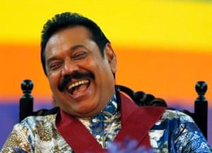 Mahinda Rajapaksa at an election rally