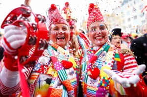 Celebrations on the first day of the the carnival season in Cologne, Germany