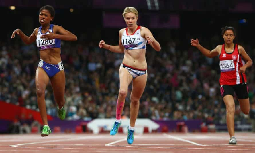 Bethany Woodward, centre, has withdrawn from Team GB over concerns about classification.