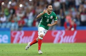 Fabian celebrates after scoring an absolute screamer.