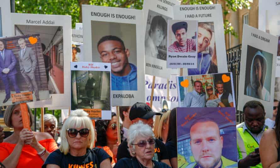 An anti-knife crime protest in London in June.