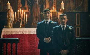 'It's Fritz Lang's Metropolis given a greasy coat of toxic tar': Cillian Murphy, left, and Paul Anderson in Peaky Blinders.