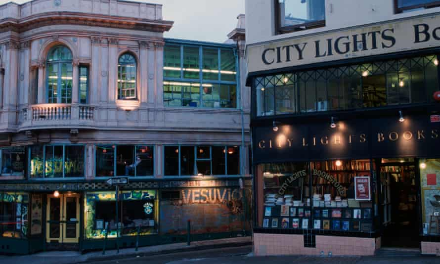 City Lights Bookstore with Cafe Vesuvio and Jack Kerouac Alley.