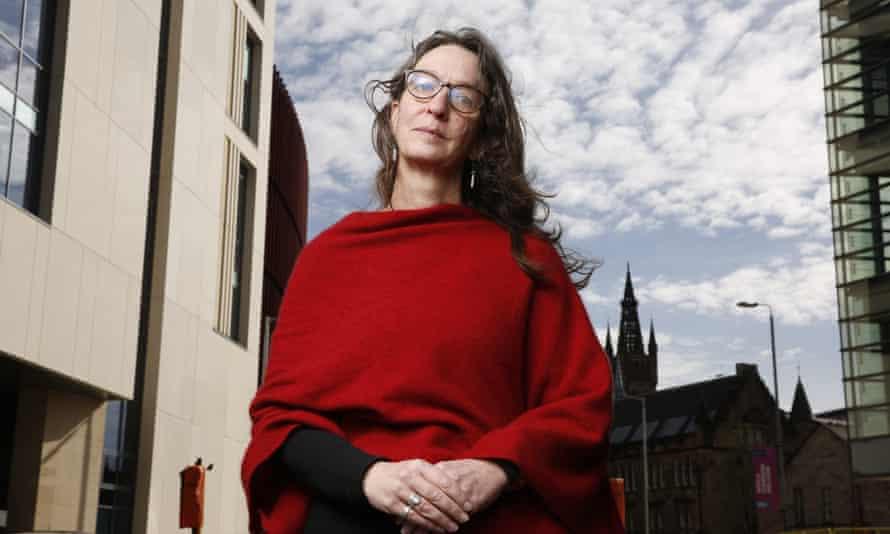 Prof Alison Phipps outside Glasgow University