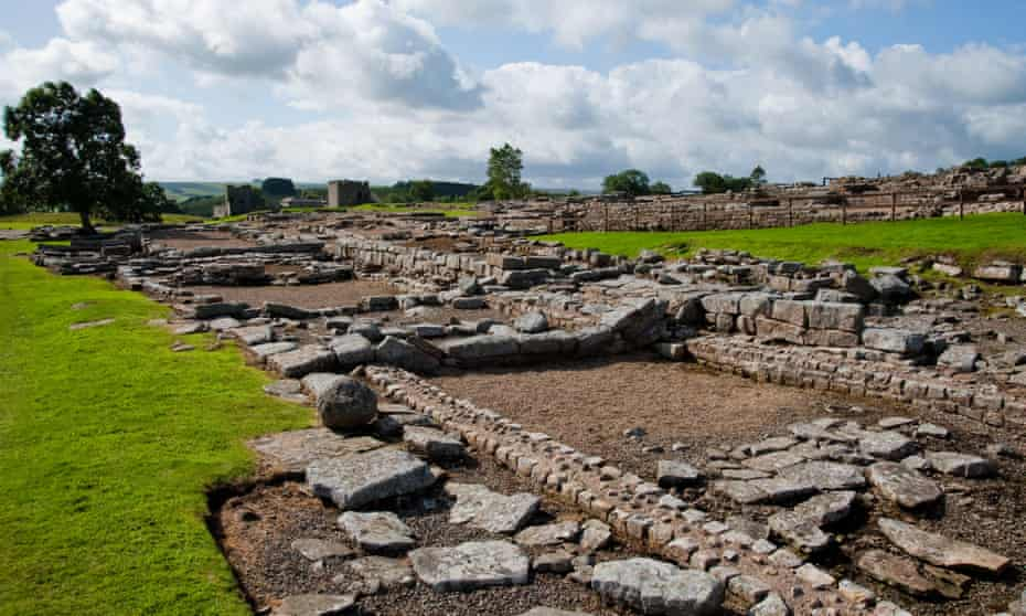 The ruins of Vindolanda Roman fort in Northumberland where the chalice was found.