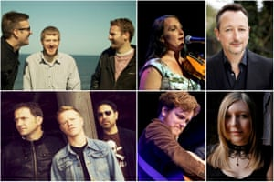 Clockwise from top left: The Young'uns, Nancy Kerr, Matthew Crampton, Rachel McShane, Greg Russell and Faustus – the cast of The Transports
