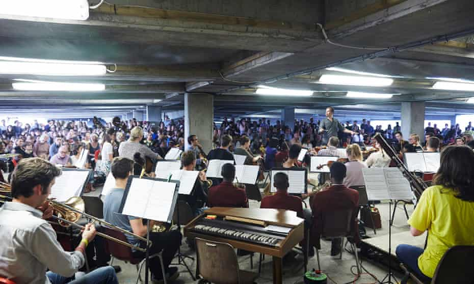 A car park concert in Peckham … 'The idea that music of high stature has to be performed in buildings of high stature closes things down,' says Kate Romano.