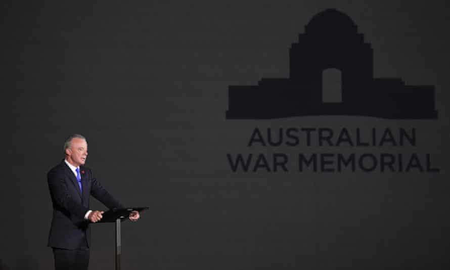 The Director of the Australian War Memorial Brendan Nelson speaks at Parliament House in Canberra, 1 November 2018.