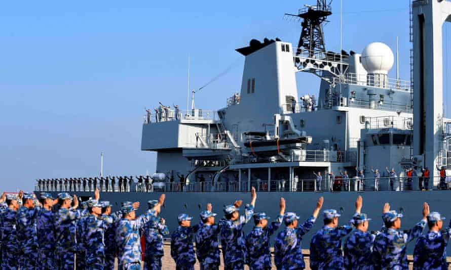 A Chinese navy ship. Britain has authorised millions in sales of arms to China, mostly military radar equipment for the country's fast-growing navy, now the world's largest.