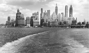 Manhattan as seen from New York harbour circa 1940